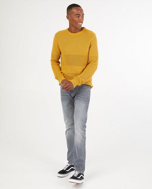 Grijze slim jeans Rick - met stretch - S. Oliver