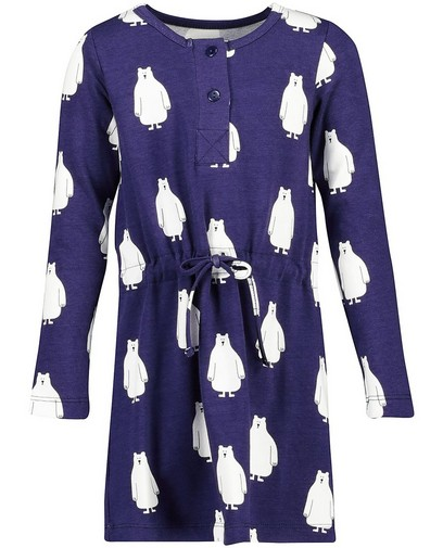 Blaues Kleid mit Print Onnolulu