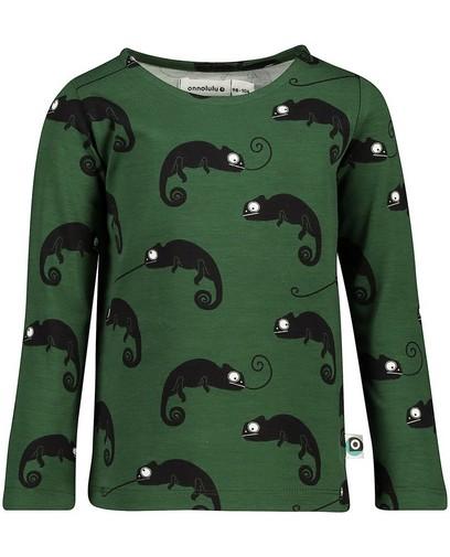 T-shirt vert à manches longues Onnolulu