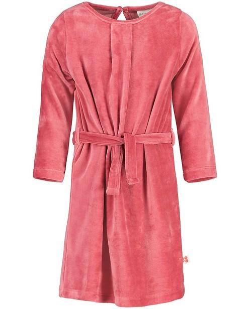 Roze jurk van fluweel Froy en Dind - effen - Froy en Dind