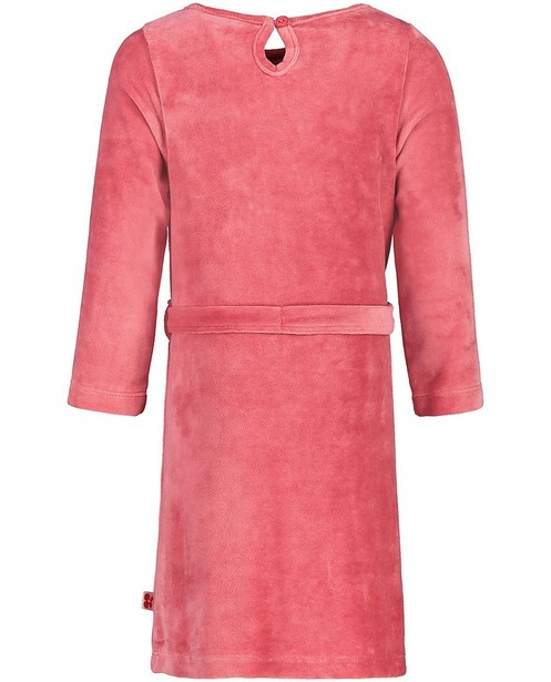 Robes - Robe rose en velours Froy & Dind