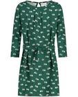 Groene jurk met print Froy en Dind - allover - Froy en Dind