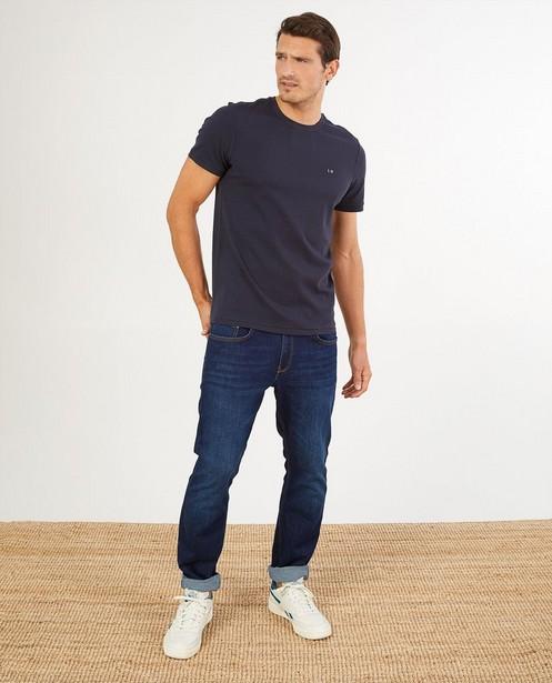 Blauw T-shirt van biokatoen I AM - met patch - I AM