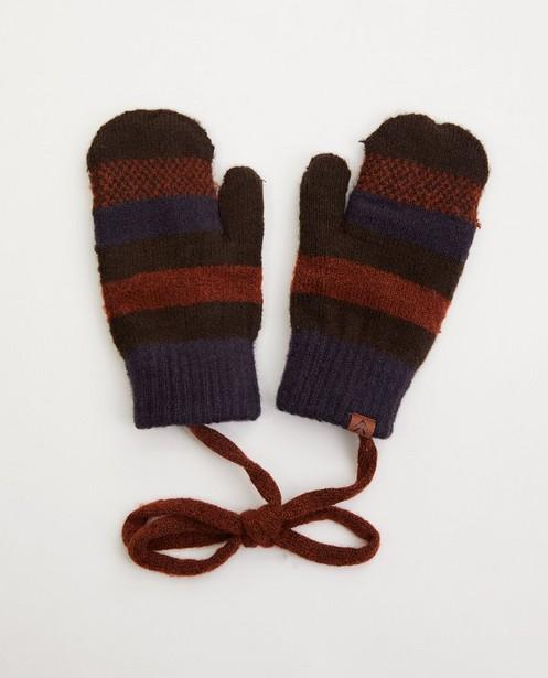 Gestreifte Handschuhe mit Fleece - mit Verbindungskordel - JBC