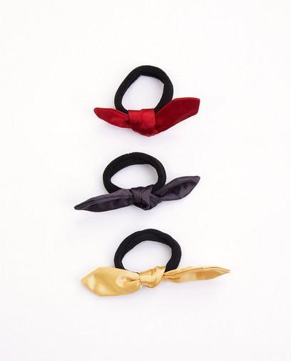 Set van 3 elastiekjes met strik