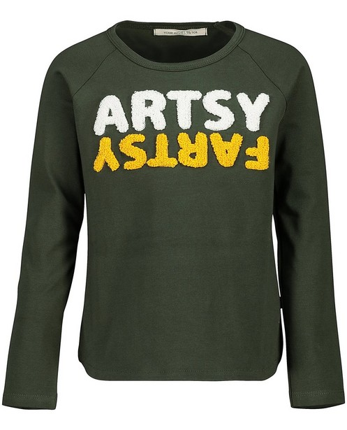 Groene longsleeve Your Wishes - met opschrift - Your Wishes
