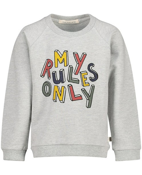 Sweater met opschrift Your Wishes - in grijs - Your Wishes
