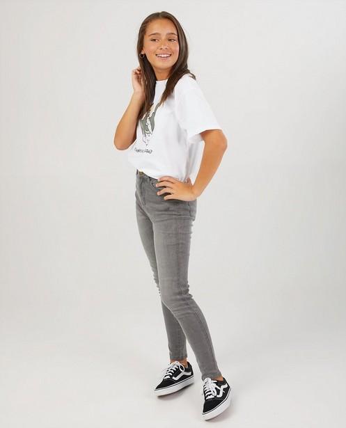Wit T-shirt met Tom-print - en opschrift - Groggy