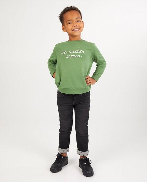 Zwarte slim jeans Simon, 2-7 jaar - stretch - Kidz Nation