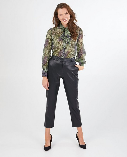 Zwarte faux leather broek Youh! - stretch - Youh!