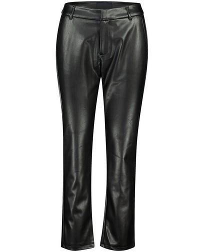 Zwarte faux leather broek Youh!