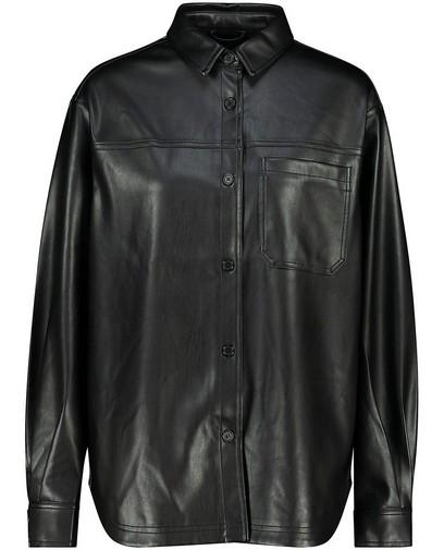 Zwarte faux leather jas Youh!