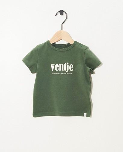 Groen T-shirt van biokatoen (NL)