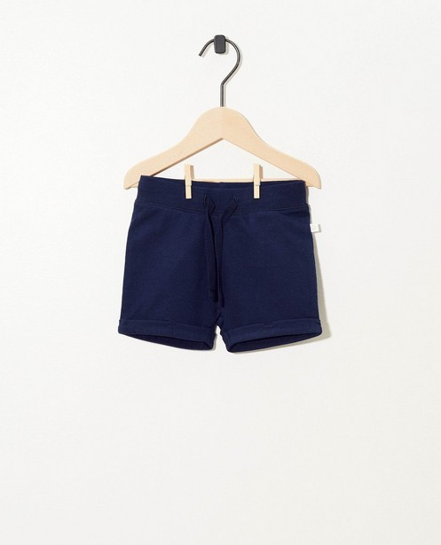 Donkerblauwe short van biokatoen - stretch - Cuddles and Smiles