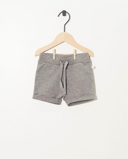 Short gris en coton bio - stretch - Cuddles and Smiles