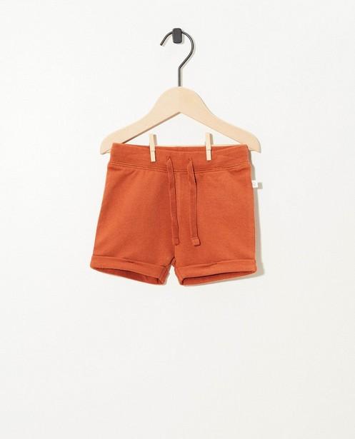 Short brun en coton bio - stretch - Cuddles and Smiles