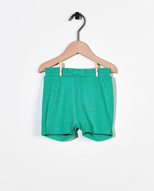Short vert en éponge - avec un nœud - Cuddles and Smiles