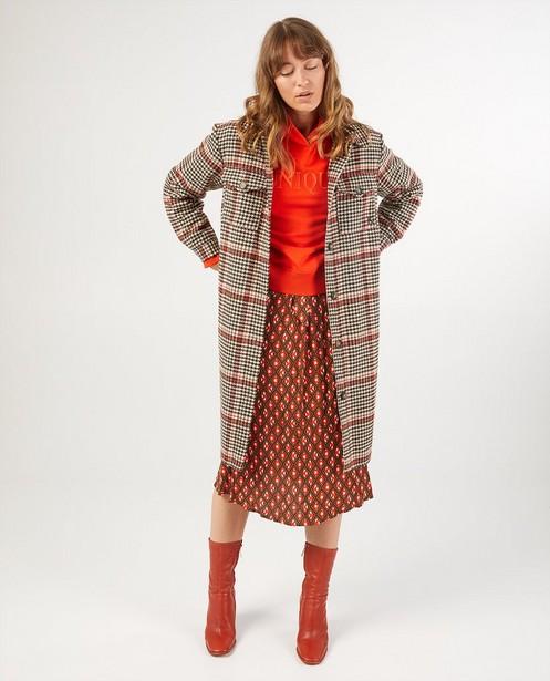 Manteau pied-de-poule Karen Damen - intégral - Karen Damen