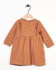 Robe brune avec imprimé spécial - paillettes - Newborn