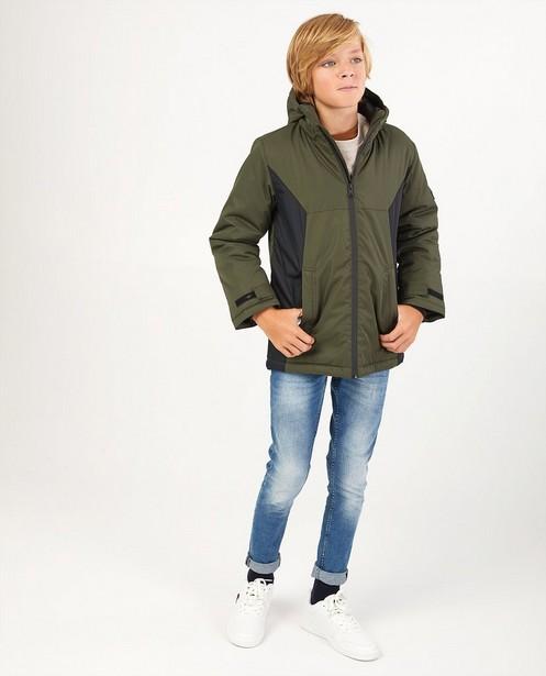 Manteau d'hiver kaki-noir avec polaire - imperméable - JBC