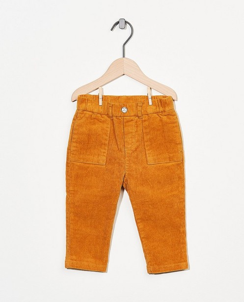 Pantalon ocre Bumba - en velours côtelé - Bumba