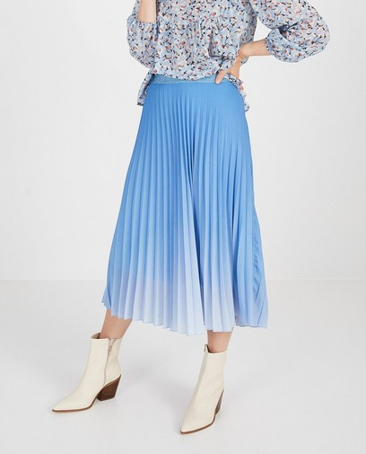 Blauwe plissérok Ella Italia