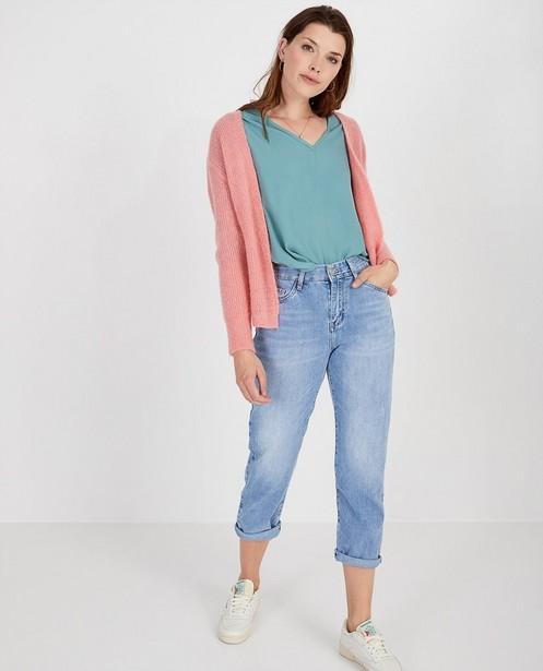 Jeans bleu destroyed Ella Italia - effet délavé - Ella Italia