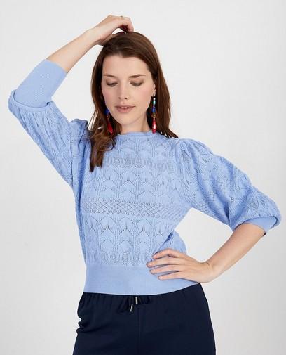 Pull bleu en tricot Ella Italia