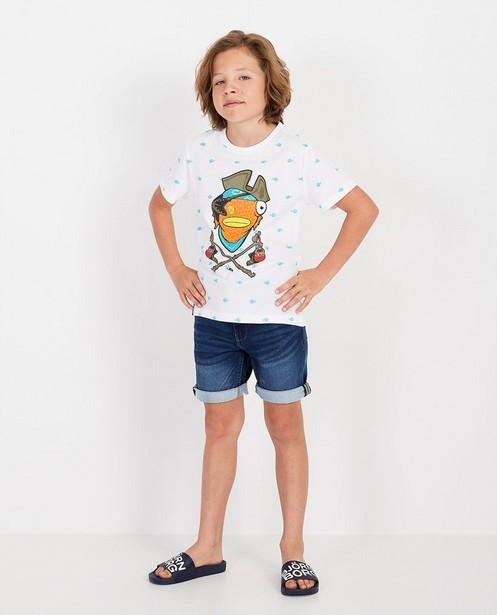 Weißes T-Shirt mit Print Fortnite - Fishstick - Fortnite