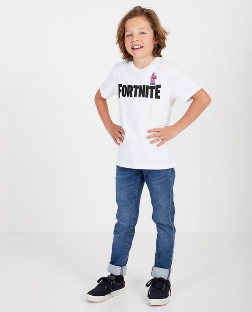 Weißes T-Shirt mit Aufschrift Fortnite - und Pinata - Fortnite