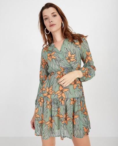Groene jurk met print Ella Italia