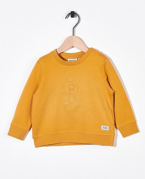 Okergele sweater Bumba - met borduurwerk - Bumba