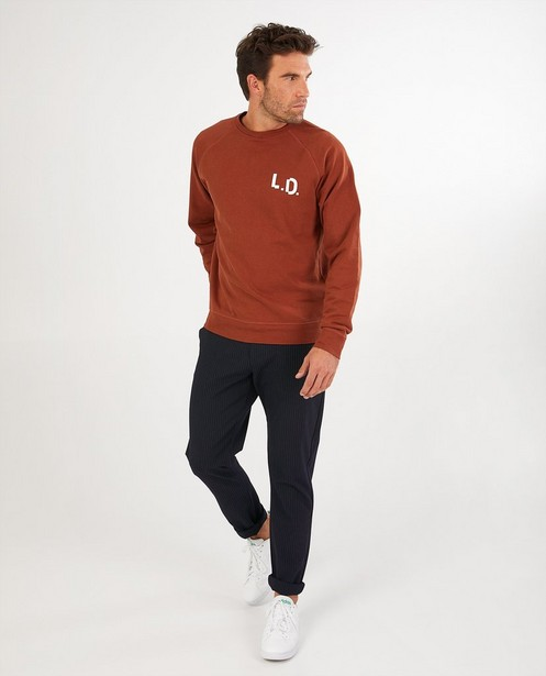 Bruine sweater League Danois - met opschrift - League Danois