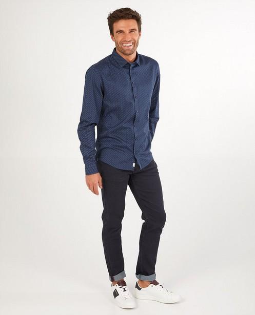 Chemise bleue avec imprimé League Danois - imprimé intégral - League Danois