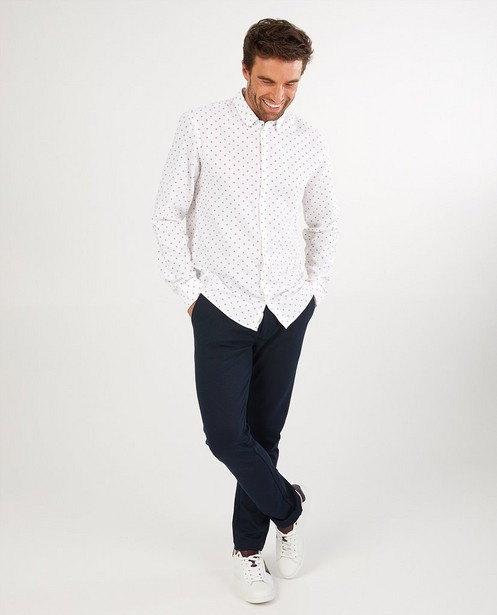 Wit hemd met print League Danois - allover - League Danois