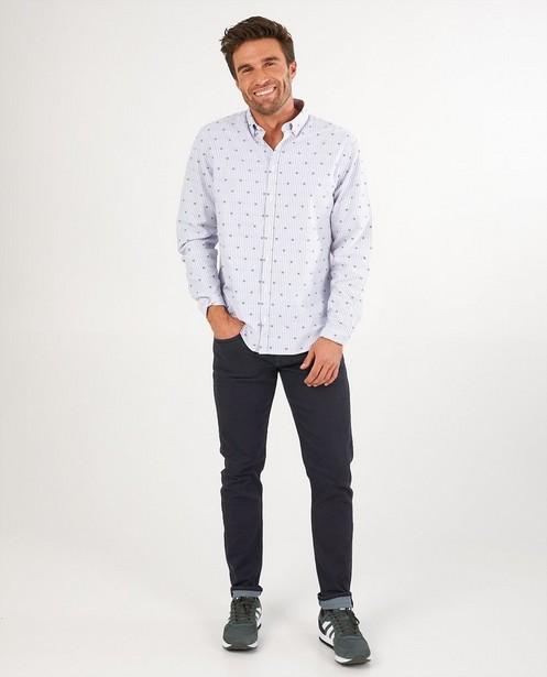 Chemise blanche rayée League Danois - imprimé intégral - League Danois
