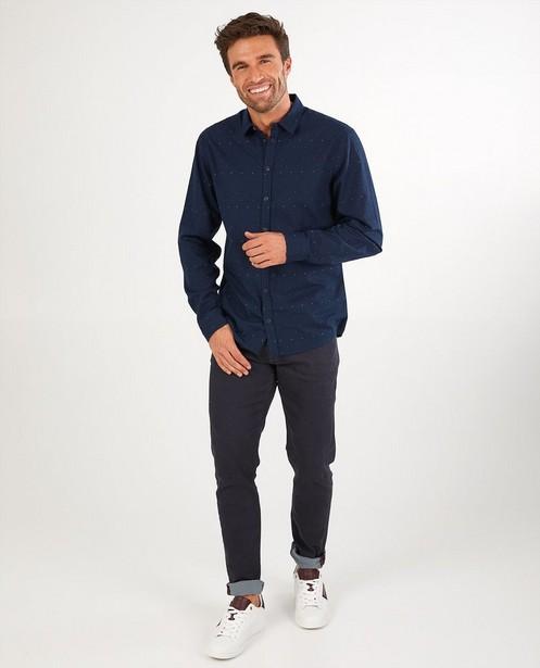 Blauw hemd met print League Danois - allover - League Danois