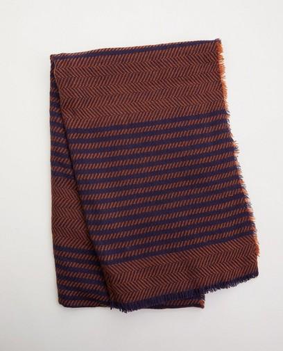 Bruine/blauwe sjaal Pieces