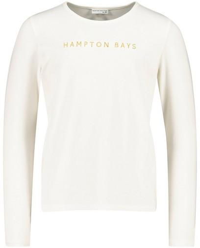 T-shirt écru à manches longues Hampton Bays