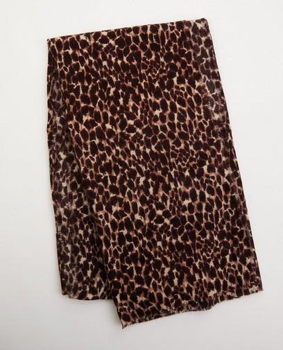 Sjaal met panterprint Pieces