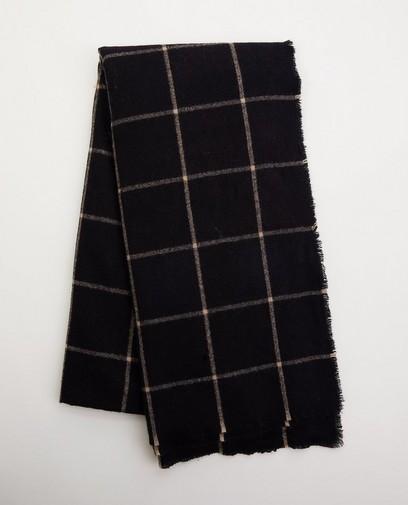 Zwarte sjaal met ruitpatroon Pieces