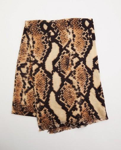 Sjaal met dierenprint Pieces