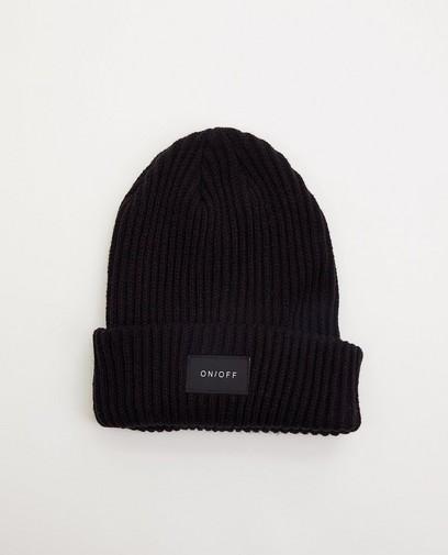 Schwarze Mütze mit Ripprelief Pieces