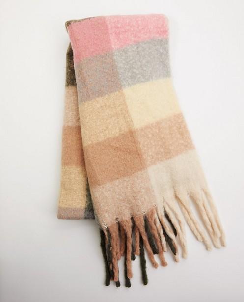 Sjaal van gerecycleerd polyester Pieces - met ruitpatroon - Pieces