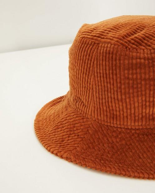 Bonneterie - Chapeau brun en velours côtelé Pieces