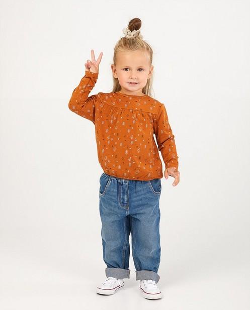 T-shirt brun à manches longues, imprimé - dessins - Milla Star