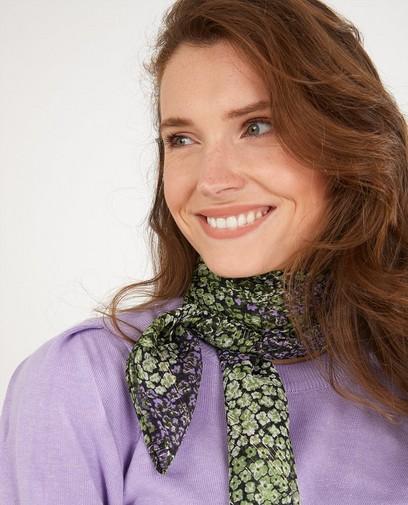 Gebloemde sjaal met metaaldraad