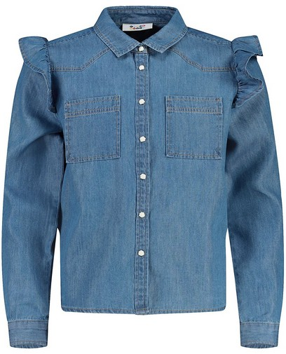 Blauw hemd van lyocell