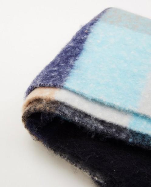 Bonneterie - Écharpe bleue à carreaux Pieces