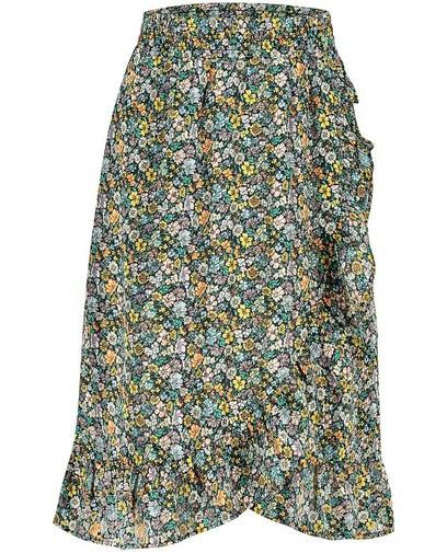 Zwarte rok met bloemenprint